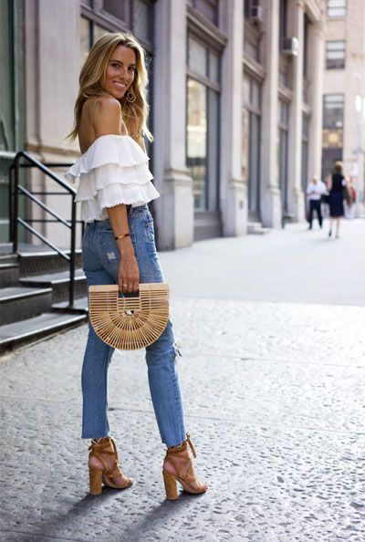 e16b09fef1ea 15 Dressy Jeans Outfit Ideas to Try This Summer