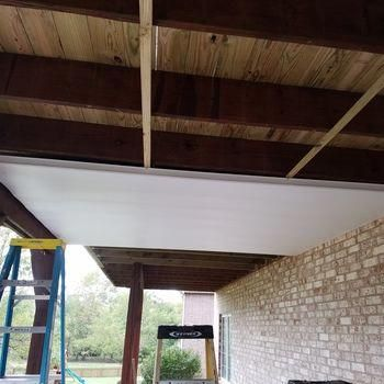 Underdeck Panel By Zip Up First Install Homeimprovementideas With Images Building A Deck Diy Deck Deck Design