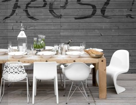 Je veux des chaises de table dépareillées blanche #joliplace #deco