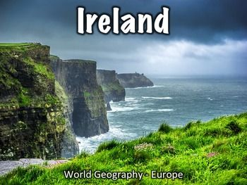 Ireland presentation - this provides an overview of Ireland's history, geography, government, economy, and culture.Includes:Overview/geography: 7 slidesFlag: 1 slideHistory: 11 slidesGovernment: 4 slidesEconomy: 3 slidesCulture: 5 slidesMiscellaneous info: 3 slidesThis presentation can be used with the free