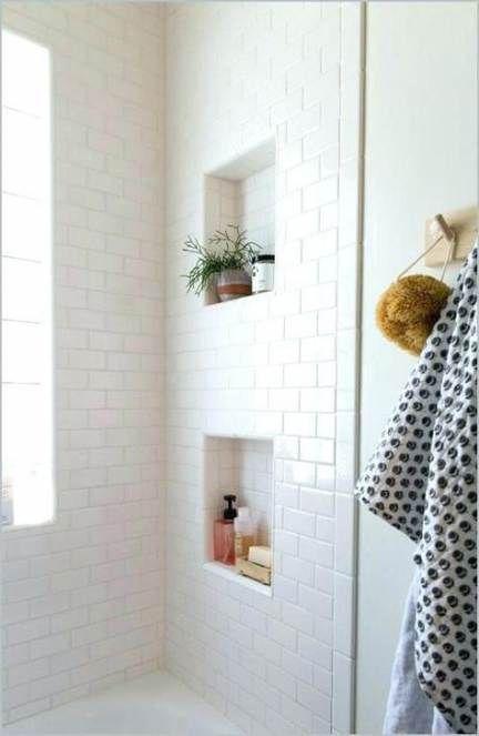 Bath Room Shower Niche Recessed Shelves 42 Super Ideas White Subway Tile Shower Bathroom Shower Tile Recessed Shower Shelf