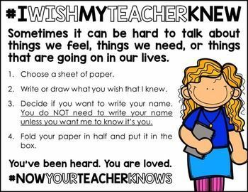"If you're like me, you were extraordinarily moved by the ""I wish my teacher knew..."" movement and hashtag on Twitter. Thanks to Denver teacher Kyle Schwartz, many of us have begun to discover things that our students want us to know but have not before sh"