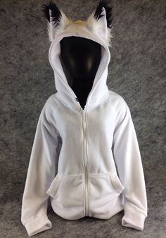 Pawstar Classic Fox Yip hoodie jacket Fox Ear Arctic by pawstar