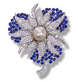 Sapphires Diamond and Pearl Jewelry