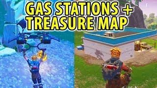 Anarchy Acres Treasure Map And All Gas Stations Fortnite Week 5 Challenges Treasure Maps Gas Station Fortnite