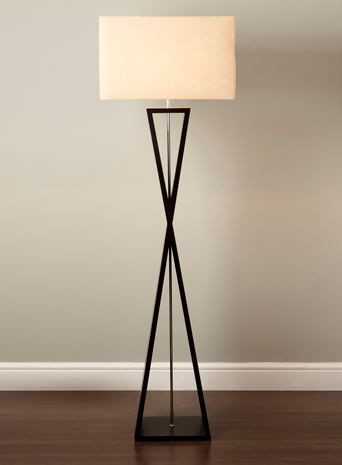 tall living room lamps.  Floor Lamp 13309 by Usona lamp Black fabric and lamps