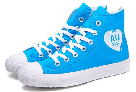 5cd176a73a4101 Light Blue Converse High Tops Women Love Heart Ice Cream Chucks All Star  Sneakers  converse  shoes