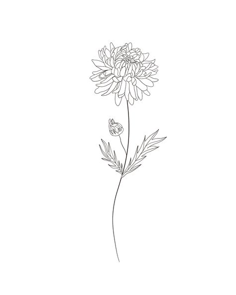 Check out my Etsy shop to get a drawing of your birth flower! Bff Tattoos, Mini Tattoos, Family Tattoos, Future Tattoos, Body Art Tattoos, Small Tattoos, Sleeve Tattoos, Tatoos, Aster Tattoo