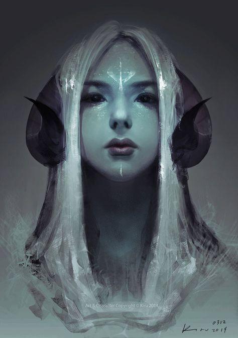 Image result for girl with horns digital art