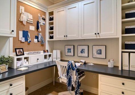 34 Ideas Craft Room Built Ins Corner Desk Built Corner Craft Desk Homeofficedesi Traditional Home Offices Office Built Ins Office Desk Designs