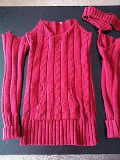 Toddler sweater dress from old sweater