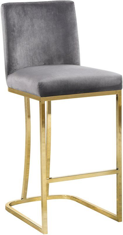 Seppich 26 Bar Stool Bar Stools Meridian Furniture Velvet Stool