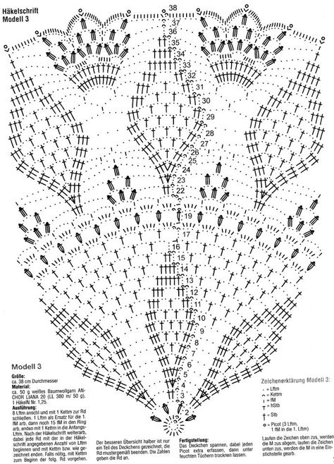 This appears to be a larger doily, but the instructions look to be German.  Either way, if you can read charts, this should be decipherable.