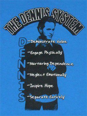 The Dennis System Of Seduction It's Always Sunny In Philadelphia T-shirt $19.99