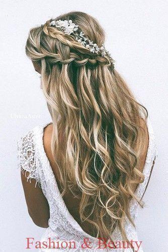 Hochzeit Frisuren Fur Lange Frisuren Wasserfall Zopfe
