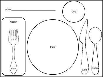 Download This Free Placemat For Your Thanksgiving Theme Print Color And Laminate The Placemats Set Them A Manners Preschool Teaching Tables Teaching Manners