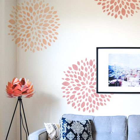 Wall Stencil Designs, Large Wall Stencil, Stencil Wall Art, Large Stencils, Wall Stencil Patterns, Stencil Painting On Walls, Damask Stencil, Diy Wall Art, Wall Decor