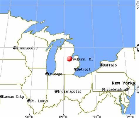 Auburn City In Michigan Auburn Is A City In Bay County In The U S State Of Michigan The City S Population Was 2 0 Lake Michigan Map Bay County County Library