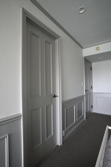 File インテリア オリジナル建具 ドア グレー 腰壁 ホワイト