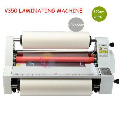 V350 13 Hot Cold Roll Laminator Single Dual Sided Laminating Machine110v 220v Cold Rolled Laminators Laminated Machine