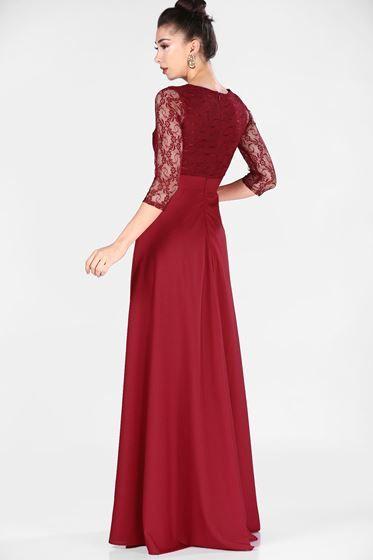 Dantelli Bordo Kadin Abiye Patirti The Dress Gelinlik Kadin