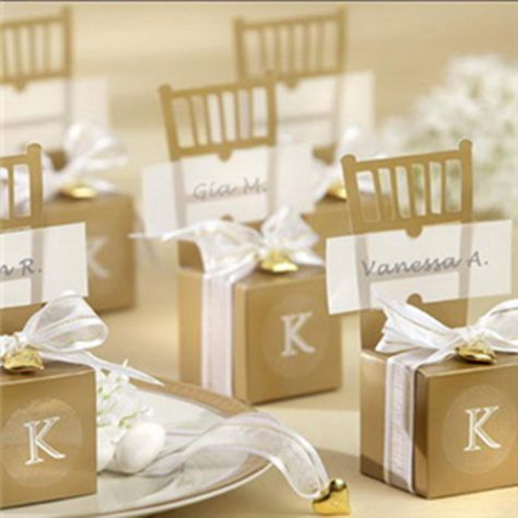 gold chair heart wedding favor boxes ewfb057 heart place place card and favors
