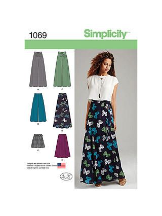 6ea2909adf Simplicity Women's Skirt and Trousers Sewing Pattern, 1069, 12-20 in ...