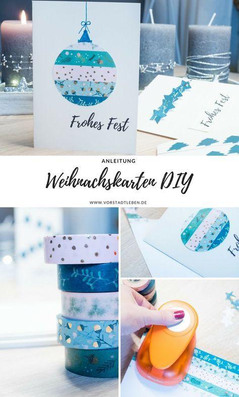 Weihnachtskarten selber machen - 3 einfache Ideen | weihnachtskarten ...