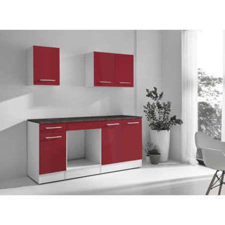 cuisine complete greta 2 coloris rouge