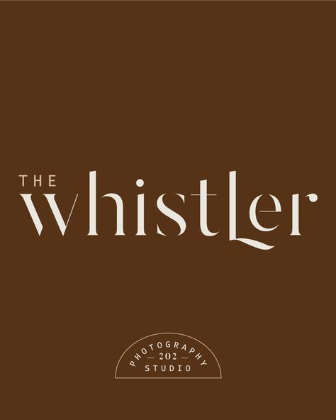 House Logodesign Graphic: A Logo Concept I Designed For The Whistler Photography