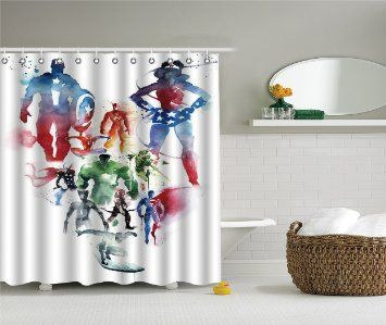 Iprint Brand Durable Fabric Shower Curtains Stylish Decorative