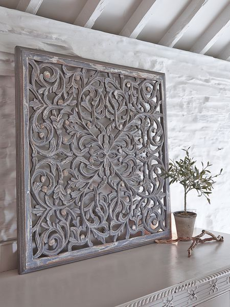 These Beautiful Rectangular Grey Carved Wooden Wall Panels Will Add Pattern And Texture To Your Home Inspirational Pieces Panel Design