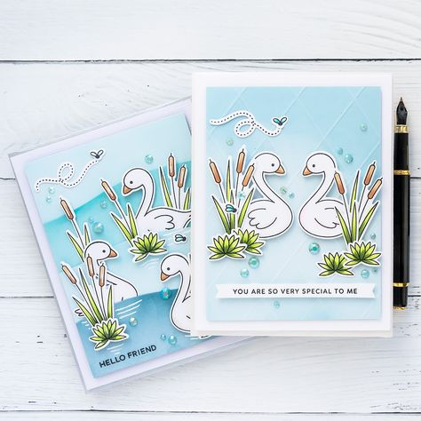 Folded Note Card of Mermaid and Manatees