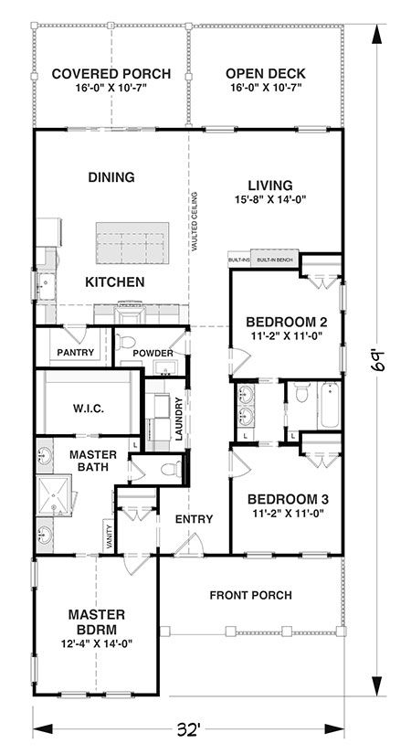Pentwater Cottage Coastal House Plans From Coastal Home Plans Simple House Plans Narrow Lot House Plans House Plans