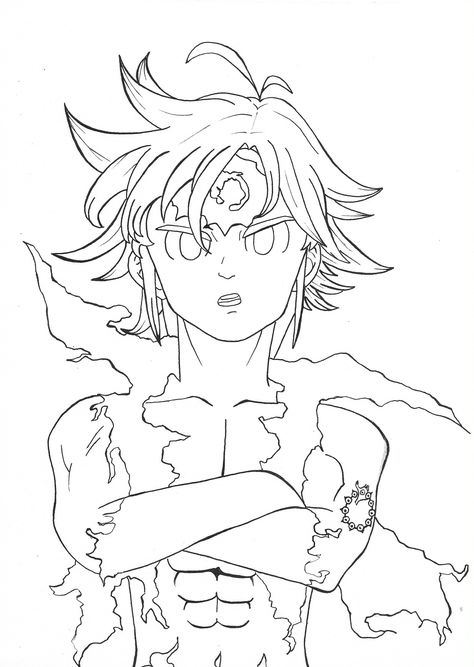 Meliodas Desenho Desenho De Anime Desenho Do Meliodas Desenhos