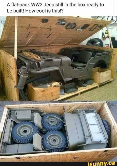 Lean Belly Workout And Diet Plan Get yours now! jacdurac: A flat-pack Jeep still in the box ready to be. jacdurac: A flat-pack Jeep still in the box ready to be built! get lost with me April 07 2019 at Jeep Wrangler, Cj Jeep, Jeep Truck, Jeep 4x4, Jeep Willys, Willys Wagon, Funny Car Memes, Car Humor, Survival Skills