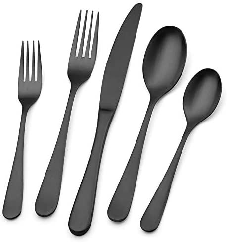 Bettlife 20 Piece Silverware Set Stainless Steel Satin Finish Flatware Set Tableware Cutlery Set For Home And Restaurant Includes Knives Forks Spoons Dishwashe In 2020 Tableware Silverware Set Cutlery Set
