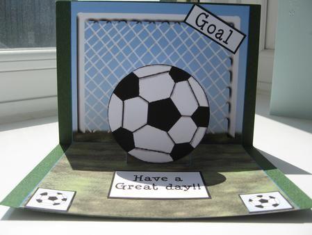 Праздником, открытка в форме футбольного мяча