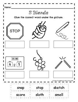 S Blends Worksheets And Posters Mixed Practice With Images