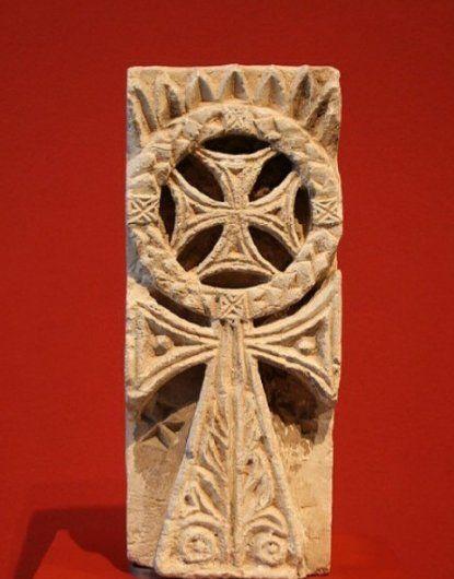 A crux ansata relief - Roemer- und Pelizaeus-Museum