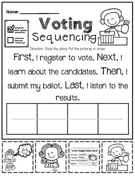 Voting Literacy Pack | Fall Primary Resources | Literacy activities ...