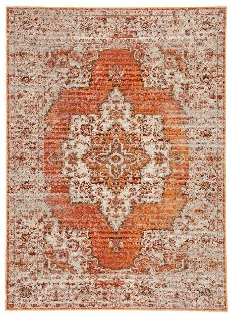 Jaipur Living Sontag Medallion Orange Brown Area Rug 5 3 X7 6