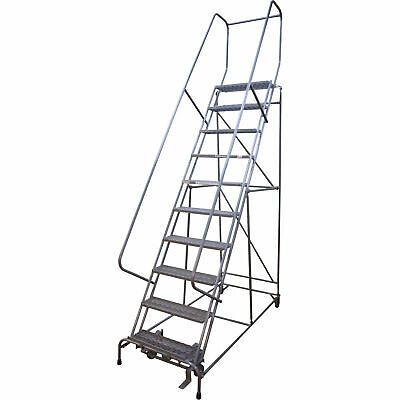 Details About Cotterman Rolling Steel Ladder 450 Lb Capacity 10 Step Ladder D046009507 In 2020 Ladder Step Ladders Rolling Ladder