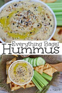 Homemade Everything Bagel Hummus recipe - The best Everything Hummus using Everything But the Bagel Seasoning Mix. An easy, simple ,vegan and HEALTHY hummus with creamy & smooth chickpeas and spices. Low calories and low oil. / Running in a Skirt #hummus #healthyliving #vegan #dairyfree #everythingbagel #traderjoes #everythingbutthebagel