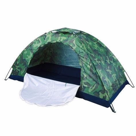 Outdoor Portable Single Layer Camo Camping Tent Wigwam