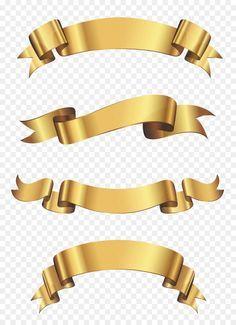 Faixas Douradas Faixa Banner Fitas De Ouro Arabescos Para Convites