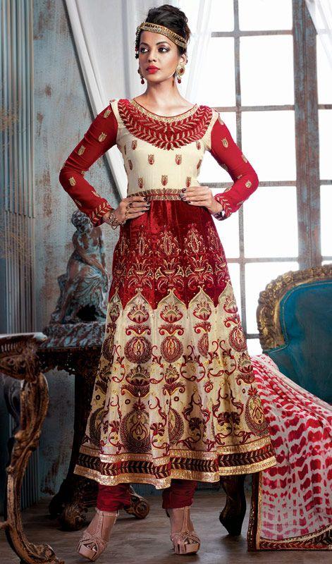 Light Pink Net Anarkali Suit With Stone Work | Anarkali Suits ...