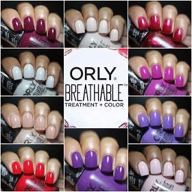 Orly Breathable Swatches Review A Catch Up With Images