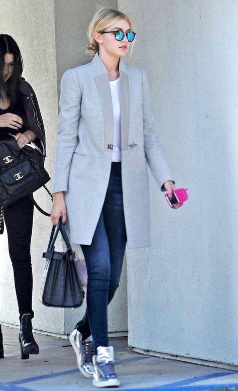 Get Gigi Hadid's Polished Yet Cool Transitional Fall Look (Le Fashion)