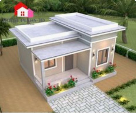 Flat Roof Flat Roofs Usually Have At Least A Slight Slope To Assist In The Shedding Of Water Thus There Also R In 2020 One Bedroom House House Design Flat Roof Design